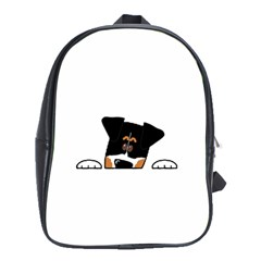 Peeping Bernese Mountain Dog School Bags (XL)