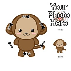 Kawaii Monkey Playing Cards 54 (Round)