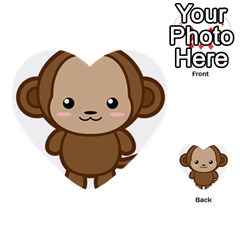 Kawaii Monkey Multi-purpose Cards (Heart)