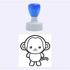 Kawaii Monkey Rubber Round Stamps (Medium)