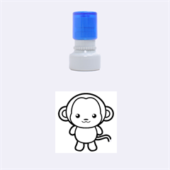 Kawaii Monkey Rubber Round Stamps (Small)