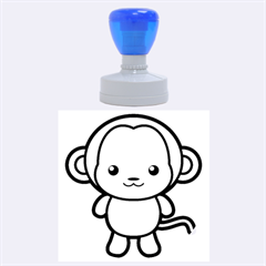 Kawaii Monkey Rubber Round Stamps (Large)