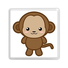 Kawaii Monkey Memory Card Reader (square)