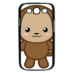 Kawaii Monkey Samsung Galaxy S III Case (Black)