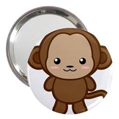 Kawaii Monkey 3  Handbag Mirrors