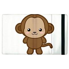 Kawaii Monkey Apple iPad 3/4 Flip Case