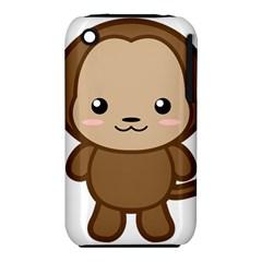 Kawaii Monkey Apple iPhone 3G/3GS Hardshell Case (PC+Silicone)