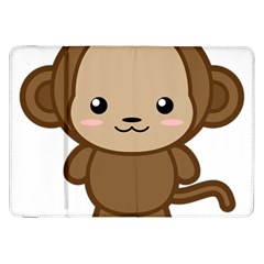 Kawaii Monkey Samsung Galaxy Tab 8.9  P7300 Flip Case