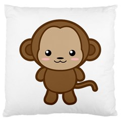 Kawaii Monkey Standard Flano Cushion Cases (Two Sides)
