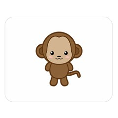 Kawaii Monkey Double Sided Flano Blanket (Large)
