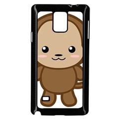 Kawaii Monkey Samsung Galaxy Note 4 Case (black)