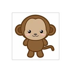 Kawaii Monkey Satin Bandana Scarf