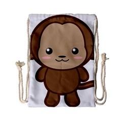 Kawaii Monkey Drawstring Bag (Small)