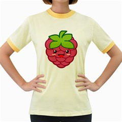 Raspberry Women s Fitted Ringer T Shirts