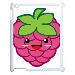 Raspberry Apple iPad 2 Case (White)