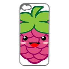 Raspberry Apple iPhone 5 Case (Silver)