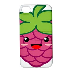 Raspberry Apple iPhone 4/4S Hardshell Case with Stand