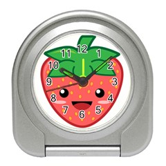 Kawaii Strawberry Travel Alarm Clocks
