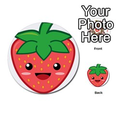 Kawaii Strawberry Multi-purpose Cards (Round)