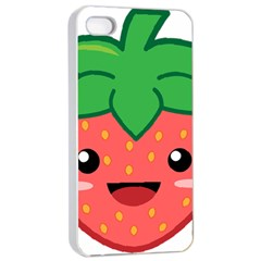 Kawaii Strawberry Apple iPhone 4/4s Seamless Case (White)