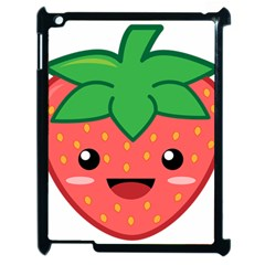 Kawaii Strawberry Apple iPad 2 Case (Black)