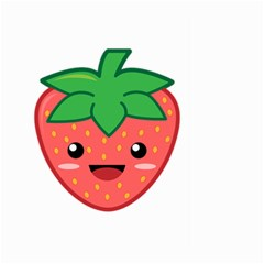 Kawaii Strawberry Large Garden Flag (Two Sides)