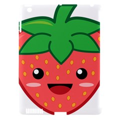 Kawaii Strawberry Apple iPad 3/4 Hardshell Case (Compatible with Smart Cover)