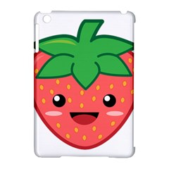 Kawaii Strawberry Apple iPad Mini Hardshell Case (Compatible with Smart Cover)