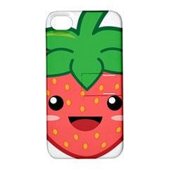Kawaii Strawberry Apple iPhone 4/4S Hardshell Case with Stand