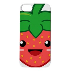 Kawaii Strawberry Apple iPhone 5S Hardshell Case
