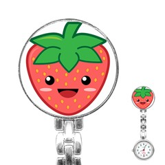 Kawaii Strawberry Stainless Steel Nurses Watches