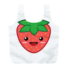 Kawaii Strawberry Full Print Recycle Bags (L)