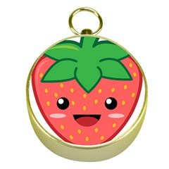 Kawaii Strawberry Gold Compasses