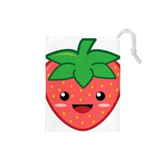 Kawaii Strawberry Drawstring Pouches (Small)