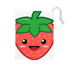 Kawaii Strawberry Drawstring Pouches (Large)