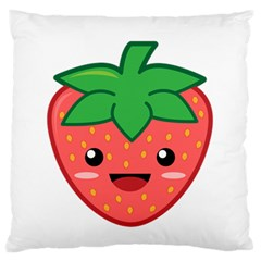 Kawaii Strawberry Standard Flano Cushion Cases (one Side)