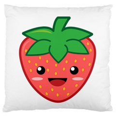 Kawaii Strawberry Large Flano Cushion Cases (Two Sides)
