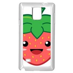 Kawaii Strawberry Samsung Galaxy Note 4 Case (White)