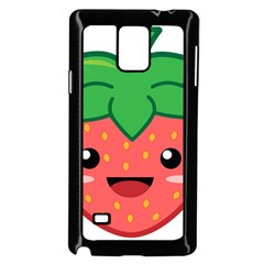 Kawaii Strawberry Samsung Galaxy Note 4 Case (Black)