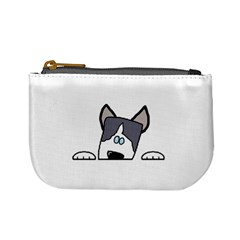 Peeping Siberian Husky Mini Coin Purses