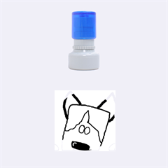 Peeping Siberian Husky Rubber Round Stamps (Small)