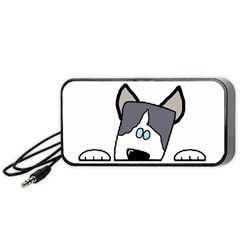 Peeping Siberian Husky Portable Speaker (Black)