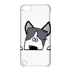 Peeping Siberian Husky Apple iPod Touch 5 Hardshell Case with Stand