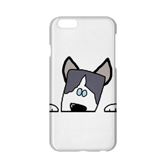 Peeping Siberian Husky Apple iPhone 6/6S Hardshell Case