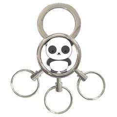 Kawaii Panda 3-Ring Key Chains