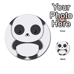 Kawaii Panda Multi-purpose Cards (Round)