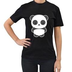 Kawaii Panda Women s T-Shirt (Black)
