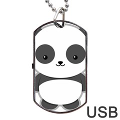 Kawaii Panda Dog Tag USB Flash (One Side)