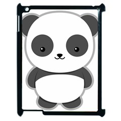 Kawaii Panda Apple iPad 2 Case (Black)