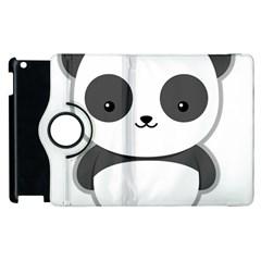 Kawaii Panda Apple iPad 3/4 Flip 360 Case